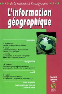 Information géographique (L'). n° 68-3
