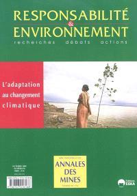 Responsabilité et environnement. n° 56, L'adaptation au changement climatique