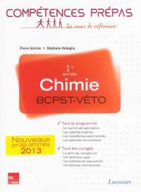 Chimie BCPST-Véto : 1re année : nouveaux programmes 2013