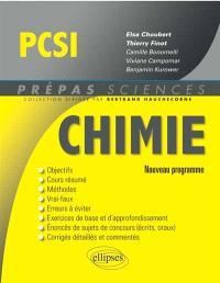 Chimie PCSI : nouveau programme