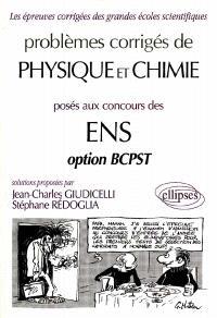 Problèmes corrigés de chimie aux concours des ENS, option BCPST