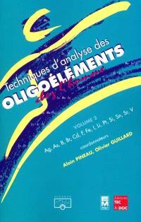 Techniques d'analyse des oligoéléments. Volume 2