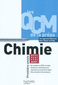 QCM chimie, MPSI-PCSI-PTSI-BCPST : première année
