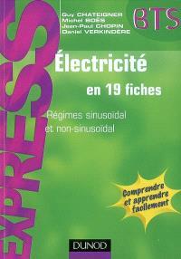 Electricité en 19 fiches : régimes sinusoïdal et non-sinusoïdal