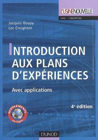 Introduction aux plans d'expériences : avec applications