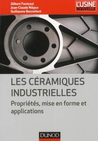 Les céramiques industrielles : propriétés, mise en forme et applications