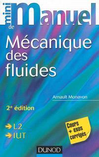 Mini-manuel de mécanique des fluides : cours + exercices