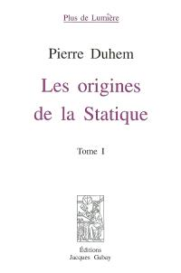 Les origines de la statique