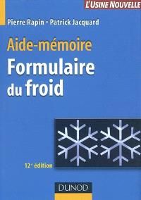 Formulaire du froid : aide-mémoire