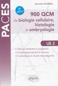 900 QCM de biologie cellulaire, histologie et embryologie, UE 2