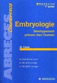 Embryologie : développement précoce chez l'humain