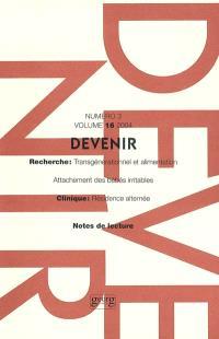 Devenir. n° 3 (2004)