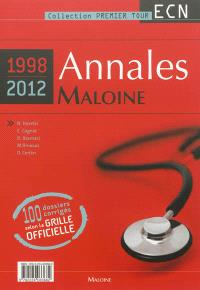 Annales Maloine internat-ECN 1998-2011