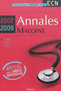 Annales Maloine internat-ECN 2002-2009