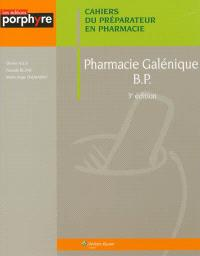 Pharmacie galénique BP