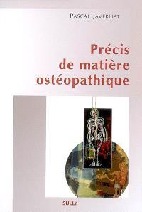 Précis de matière ostéopathique