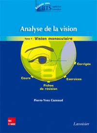 Analyse de la vision. Volume 1, Vision monoculaire