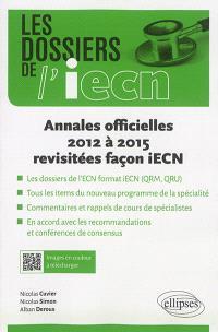Annales officielles 2012 à 2015 revisitées façon iECN
