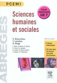 Sciences humaines et sociales : pour préparer UE7