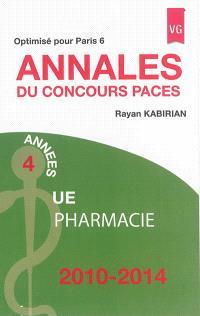Annales du concours Paces : UE pharmacie : 2010-2014