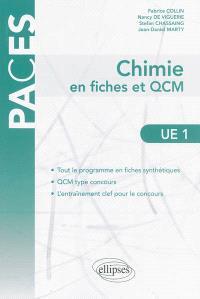 Chimie en fiches et QCM : UE1