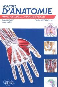 Manuel d'anatomie : anatomie générale, programme de PACES : UE5