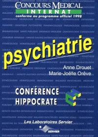 Psychiatrie : le concours médical internat conforme au programme officiel 1998