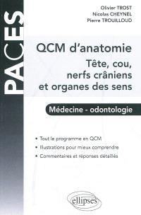 QCM d'anatomie : tête, cou, nerfs crâniens et organes des sens