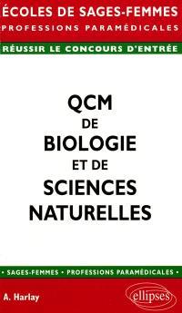 QCM de biologie et de sciences naturelles : écoles de sages-femmes, professions paramédicales, concours d'entrée : réussir le concours d'entrée