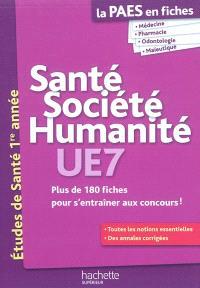 Santé, société, humanité UE7 : études de santé 1re année
