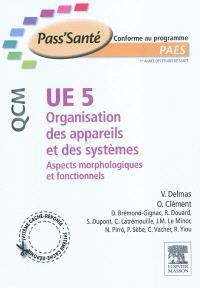 UE 5, organisation des appareils et des systèmes : aspects morphologiques et fonctionnels : PAES