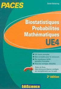 Biostatistiques, probabilités, mathématiques PACES UE4