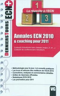 Annales ECN 2010 & coaching pour 2011