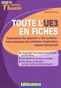 Toute l'UE3 en fiches : organisation des appareils et des systèmes : bases physiques des méthodes d'exploration, aspects fonctionnels