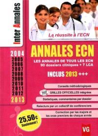 Annales ECN 2004-2013 : les annales de tous les ECN, 90 dossiers cliniques + 7 LCA
