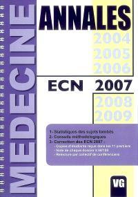 Annales ECN 2007 : annales des ECN, statistiques des sujets tombés, conseils des meilleurs