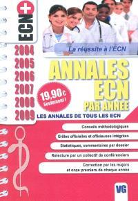 Annales ECN par année : les annales de tous les ECN : 2004, 2005, 2006, 2007, 2008, 2009