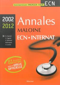 Annales Maloine ECN-internat 2002-2012