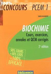 Biochimie : cours, exercices, annales et QCM corrigés