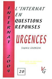 L'internat en question réponses. Volume 20, Urgences : conforme au nouveau programme