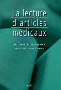 La lecture d'articles médicaux
