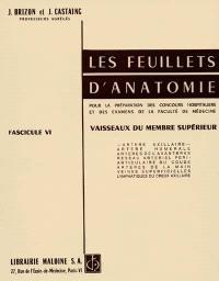 Les Feuillets d'anatomie : pour la préparation des concours hospitaliers et des examens de la Faculté de médecine. Volume 6, Vaisseaux du membre supérieur
