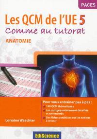 Les QCM de l'UE5 : comme au tutorat : anatomie