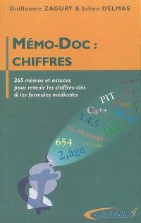 Mémo-doc : chiffres : 365 mémos et astuces pour retenir les chiffres-clés & les formules médicales