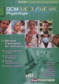Physiologie, PAES, QCM UE 3-UE spé