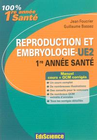 Reproduction et embryologie, UE2 1re année santé