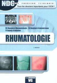 Rhumatologie : 35 dossiers rhumatologie, 15 dossiers transversaux, 11 sujets d'annales