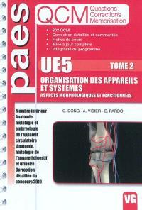 UE5 organisation des appareils et systèmes : aspects morphologiques et fonctionnels : QCM questions corrections mémorisation. Volume 2