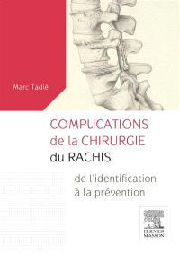 Complications de la chirurgie du rachis : de l'identification à la prévention