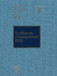 Conférences d'enseignement 2008